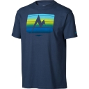 Mens Sunrise Stripe Short Sleeve Tee