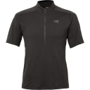 Mens Velox Short Sleeve Zip Neck