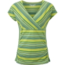 Womens Essential Tencel Stripe Short Sleeve Top