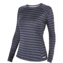 Womens Long Sleeve Striped Technical T-Shirt