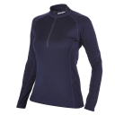 Womens Long Sleeve Zip Neck Technical T-Shirt