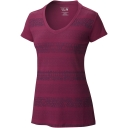 Womens DrySpun Batika V Neck Short Sleeve T