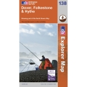 Explorer Map 138 Dover, Folkstone and Hythe