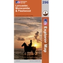 Explorer Map 296 Lancaster, Morecombe and Fleetwood