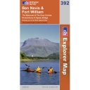 Explorer Map 392 Ben Nevis and Fort William