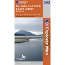 Explorer Map 393 Ben Alder, Loch Ericht and Loch Laggan