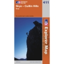Explorer Map 411 Skye- Cullin Hills
