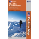Explorer Map 414 Glen Shiel and Kintall Forest