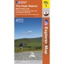 Explorer Map OL1 The Peak District - Dark Park Area