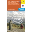 Active Explorer Map OL4 The Lake District - North Western Area