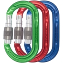 Ultra O Keylock Screwgate Pack of 3 Colour Karabiners