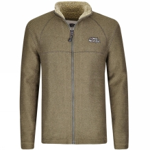 Mens Canberra Full Zip Sherpa Lined Macaroni Fleece