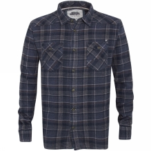 Mens Skynight Brushed Flannel Long Sleeve Checked Shirt