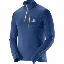 Mens Trail Runner Warm Long Sleeve Zip T-Shirt