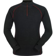 Mens Long Sleeve Zip Neck Merino Baselayer