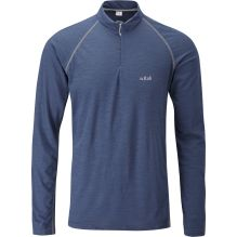 Mens MeCo 140 Long Sleeve Zip Tee