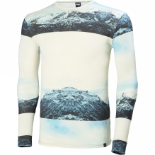 Men's HH Wool Graphic Long Sleeve Base Layer