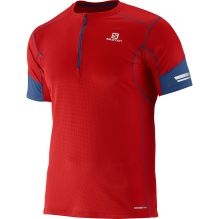 Mens Agile 1/2 Zip Short Sleeve Tee