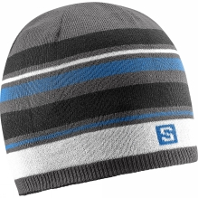 Mens Stripe Reversible Beanie