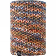 Knitted and Polar Fleece Neckwarmer Multi-Coloured