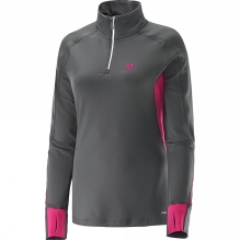 Womens Trail Runner Warm Long Sleeve Zip Tee