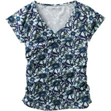 Urban Garden Ruched Short Sleeve V Neck