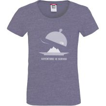 Womens Short Sleeve Adventure Is Served Tee