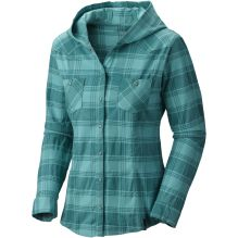 Womens Stretchstone Flannel Hooded Shirt