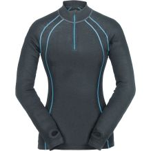 Womens Long Sleeve Zip Neck Merino Baselayer
