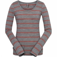 Womens Crush Long Sleeve Scoop Stripe Tee
