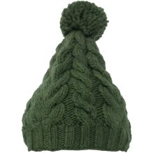 Womens Cable Floppy Pom Pom Hat