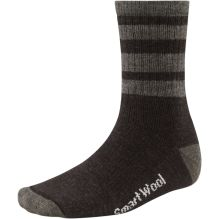 Mens Striped Hike Medium Crew Sock