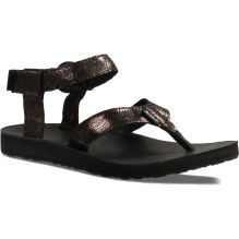 Womens Original Leather Metallic Sandal