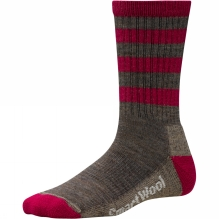 Womens Striped Hike Light Crew Sock