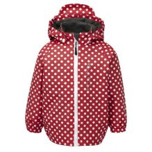Kids Varberg Fleece Lined Rain Jacket with Dots