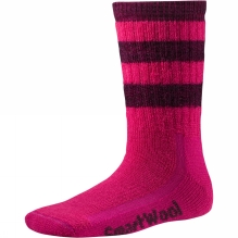 Childrens Striped Hike Medium Crew Sock