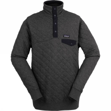Mens Cotton Quilt Snap-T Pullover
