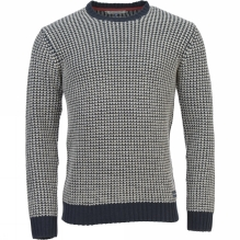 Mens Chunky Knit Crew Jumper