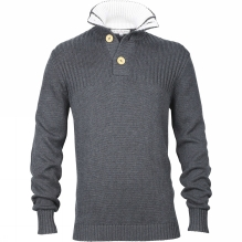 Mens Corfe Button Up Knit Jumper