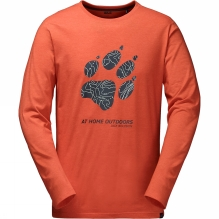 Mens Paw Map Long Sleeve T-Shirt