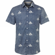 Mens Boats Short Sleeve Shirt