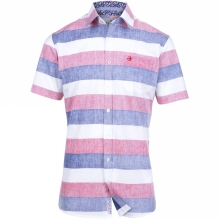 Mens Reverse Stripe Short Sleeve Shirt