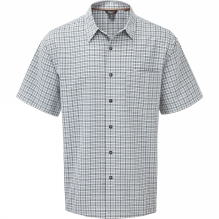 Mens Desert Pucker Plaid Short Sleeve Shirt