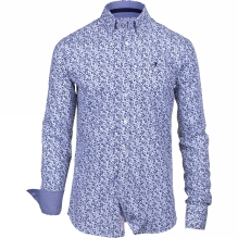 Mens Floral Long Sleeve Button Down Shirt