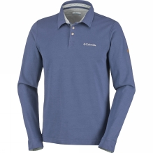 Mens Fields Of Grey Long Sleeve Polo