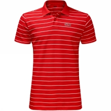 Mens Pique Striped Polo