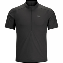 Mens Velox Zip Neck Short Sleeve Shirt