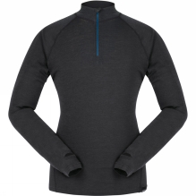 Mens Long Sleeve Zip Neck Merino Base Layer