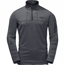 Mens Silver Sky Half Zip Top