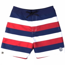 Mens Stripe Pockets Board Shorts